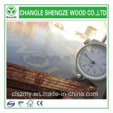 El cliente del pegamento 18m m de WBP pidió la madera contrachapada hecha frente película de la insignia