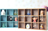 Retro Customized Design Home Display Cabinet Armário de madeira com compartimentos
