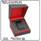 Caja de embalaje del reloj de empaquetado del caso del terciopelo del papel de cuero del reloj de almacenaje del rectángulo del reloj del embalaje de la visualización de madera del regalo (YS1012b)