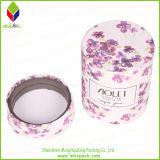 Caixa colorida de empacotamento redonda doce da vela com a esponja para a vela