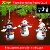 Ornamento dei regali del mestiere dell'argilla del polimero del pupazzo di neve della decorazione di natale