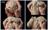 Mágica do divertimento da praia que modela brinquedos lunares da areia