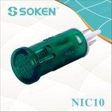 Luz de indicador de Soken Nic10 com lâmpada de néon