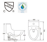2016 nuevo diseño del armario de agua de una pieza S-Trap inodoros de cerámica con adaptador de PVC y PP cierre suave cubierta de asiento del Ast358
