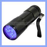 9 LED UVFlashlight Torch für Hygiene Checks und Detecting Pet Urine