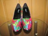 2016 африканских ботинок платья женщин высокой пятки тканей Анкара (HCY02-1800)