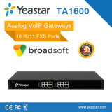 Passagem análoga portuária de Yeastar 16 Rj11 FXS VoIP