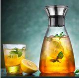 ホーム食事の明確なガラス水ピッチャーはジュースのコーヒー水差しの容器を飲む