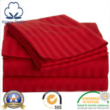 3cm/1cm/0.5cm/2.5cmのサテンの縞が付いている100%年の綿のホテルまたはホームまたは病院ファブリック