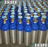 Cuello azul, los tanques de oxígeno médicos de aluminio de la carrocería de plata