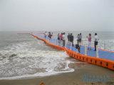Muelle plástico el pontón de flotación