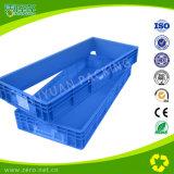 Caja de plástico de color gris volumen de negocios con la manija y la tapa