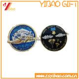 高品質の旧式な金によってめっきされる3D金属の挑戦硬貨(YB-LY-C-31)