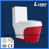 Wc туалета лидирующего сифона цвета супер керамический цельный