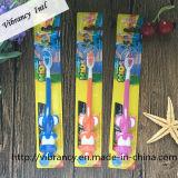 Cepillo de dientes de calidad superior de la succión del niño con el cepillo de dientes de goma suave del elefante de la historieta