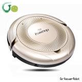 Les dispositifs portatifs de nettoyage de mini d'étage de couleur de Golen robot d'aspirateur apaisent le bouton marche Hoover propre de l'aspirateur de robot de lavette un