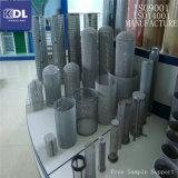 Filtros de acoplamiento de alambre de acero inoxidable, gas y filtración del líquido