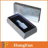 Подарка пакета логоса серебряной бумаги горячая штемпелюя коробка косметического бумажная