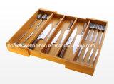 Drawer Erweiterbare Speicher Besteck Bestecke Organizer Fach Aufbewahrungsbox HB108