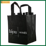 9 bolso reutilizable del vino del portador 420d de la botella (TP-WB020)