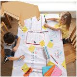 Kind-abgehobener Betrag auf PET lamellierter Tisch-Deckel-Wegwerfpapiertischdecke