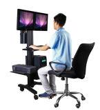 """Monitor del sitio de trabajo del ordenador móvil solo ajuste de altura de 10-24 """" (PCM 1202)"""