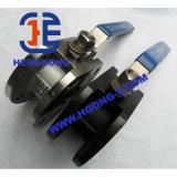 Valvola a sfera di galleggiamento della flangia dell'acciaio di getto di pressione di API/DIN/gas di Wcb