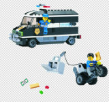 De Vrachtwagen 209PCS van het Contante geld van de Collector van de Rekening van de Ontwerper van de Reeks van de politie blokkeert Speelgoed