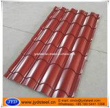 Chapa de aço ondulada de telha de telhado (RAL3011)