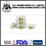 Congelador relativo à promoção do armazenamento do esmalte do ferro de molde com tampa do PE