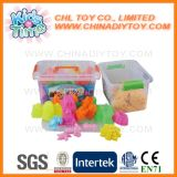 Areia mágica educacional do divertimento de Playdate do verão com os moldes ajustados