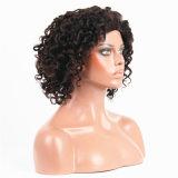 Peluca rizada rizada brasileña del cordón del pelo humano de la densidad del 130%