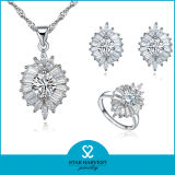 CZ (J-0067)와 가진 우아한 Lady 925의 Sterling Silver Jewelry Set
