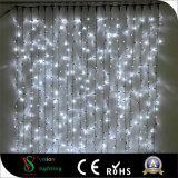 [2إكس3م] [600لدس] خارجيّة عيد ميلاد المسيح زخارف بيضاء ستار أضواء