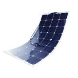 청결한 녹색 에너지 100watt 반 유연한 태양 전지판