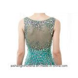 As mulheres perlaram o vestido Sleeveless de cristal brilhante do baile de finalistas do partido de noite