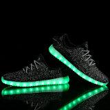 7 colores luminosos unisex de las zapatillas de deporte de Yeezy del USB de carga del LED luces LED zapatos para adultos