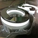 Почищенное щеткой стальное рекламируя письмо канала металла знака письма СИД