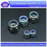 Tuerca de fijación de nylon Hex inoxidable de la pieza inserta del acero DIN985/DIN982