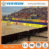 Yestech Magic Stage exterior / interior deporte LED pantalla de visualización
