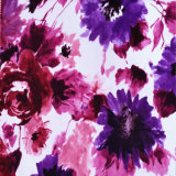 Tela suave estupenda del sofá del terciopelo de la impresión floral (FD1019)