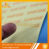 Escrituras de la etiqueta amonestadoras de la seguridad transparente de encargo