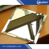 Vetro smussato dello specchio dell'argento del bordo per figura ovale rotonda di rettangolo