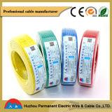 Fio elétrico com conduta de alumínio, cabo elétrico, isolação do PVC, 2 núcleos