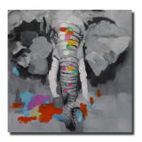 100% Elephants Thick Texture Abstract Wholesaler의 손으로 그리는 Contemporary Art Pop Art Oil Paintings