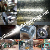 Feuille en acier galvanisée plongée chaude de toiture et bobine en acier galvanisée