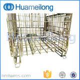 ヨーロッパの折りたたみ倉庫の金属の鋼線の網の容器