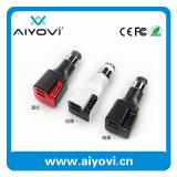 Kundenspezifisches Firmenzeichen-Drucken 2 in 1 Doppel-USB-Luft-Reinigungsapparat-Auto-Aufladeeinheit