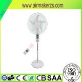 16 '' AC gelijkstroom stelde de Zonne12V Batterij de Navulbare Ventilator van het Voetstuk van de ZonneMacht gelijkstroom in werking