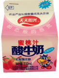 dreieckiger Karton 232ml für Pfirsich